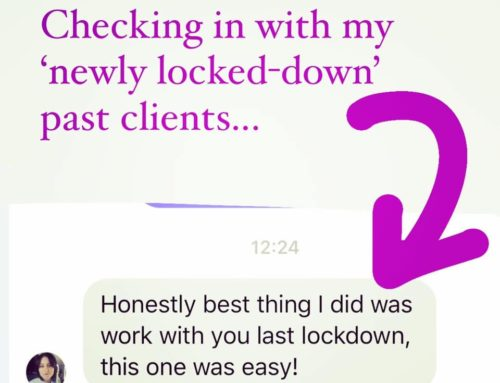 Checking in with my newly locked-down past clients