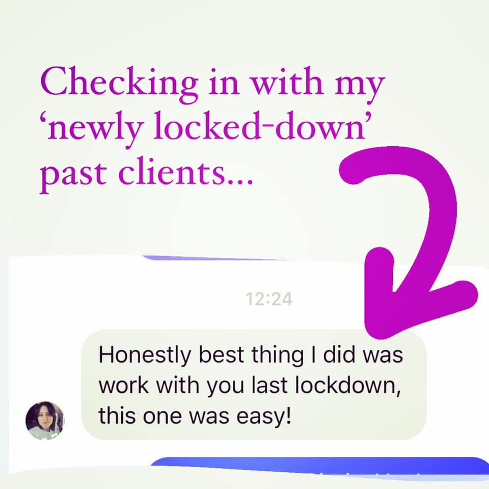 checking in with my past clients